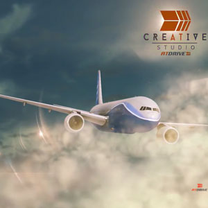 3D Model – Air Plane Animated Background & Model